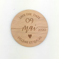 Save the date magnet coeur