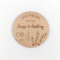 Magnet save the date eucalyptus