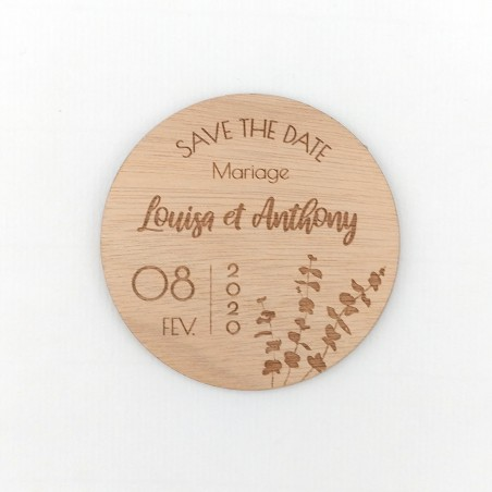 Magnet save the date eucalyptus