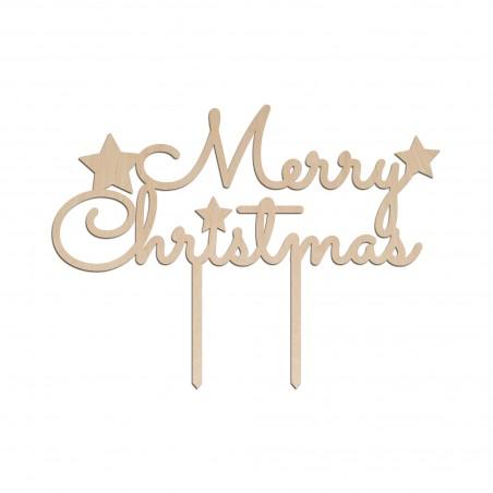 cake topper noel merry christmas étoile
