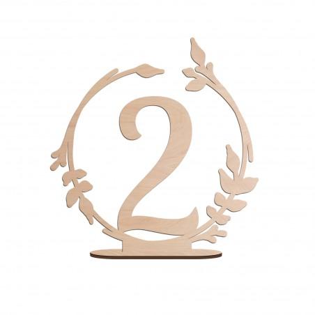 numéro table mariage bois