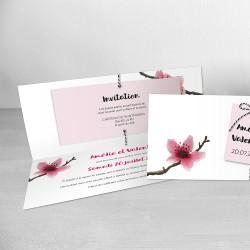 faire-part mariage fleur cerisier japonais