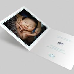 faire part de naissance 4 pages avec photo