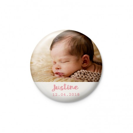 Badge et Magnet faire-part naissance photo