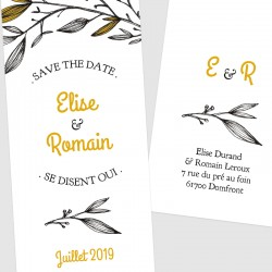 Save the date marque page mariage provençal
