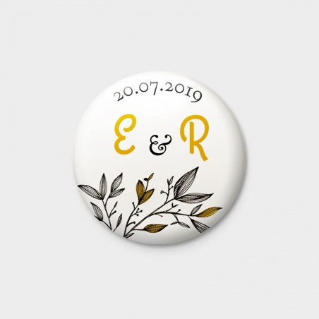 Badge magnet mariage provence