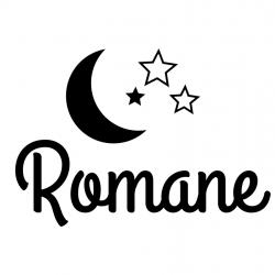 sticker personnalisé prénom lune et étoile