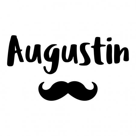 Sticker personnalisé prénom moustache