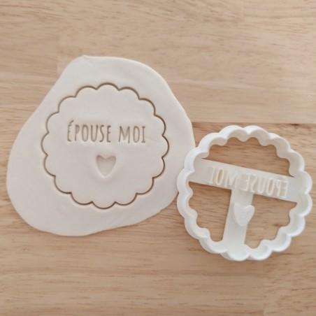 Emporte pièce biscuit mariage épouse moi coeur cookie cutter