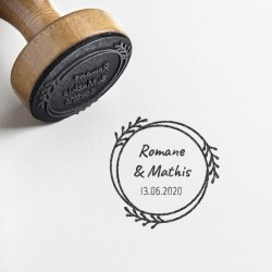 tampon mariage personnalisé champetre nature