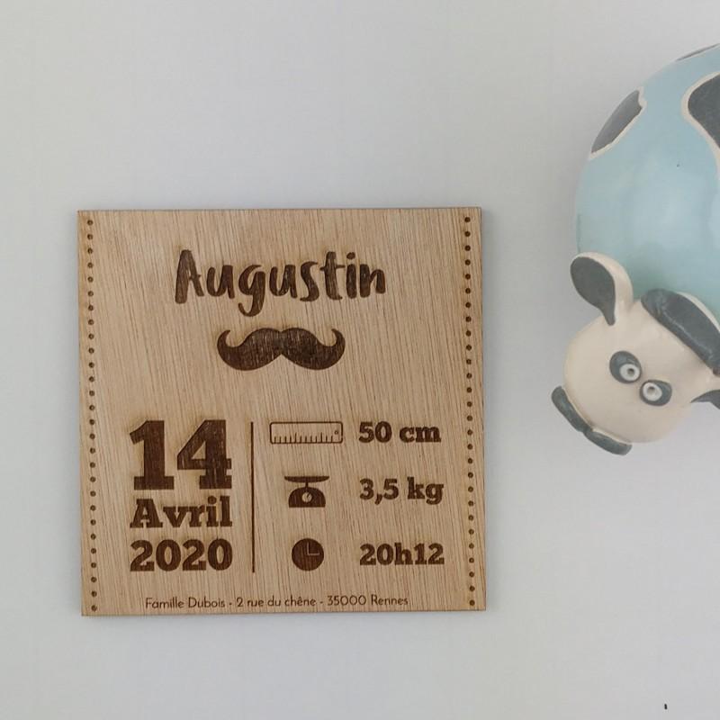 faire part naissance bois moustache