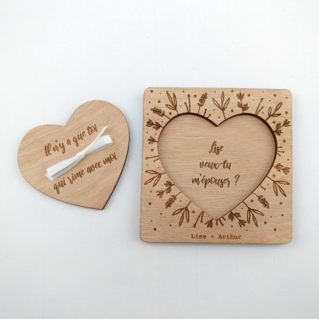 demande en mariage originale bois
